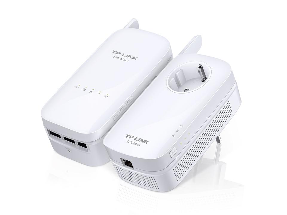 Kit d'adaptateurs CPL AV1200 Gigabit Wi-Fi AC