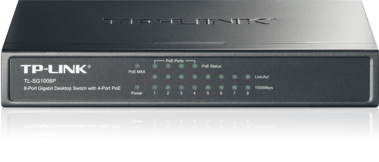 Switch de bureau 8 ports Gigabit – 4 Ports PoE