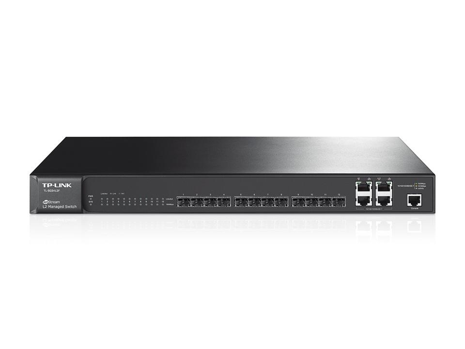 Switch administrable Niveau 2 12 ports SFP Gigabit avec 4 Ports