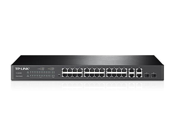 Smart Switch administrable 24 ports 10/100 Mbps + 4 ports Gigabit