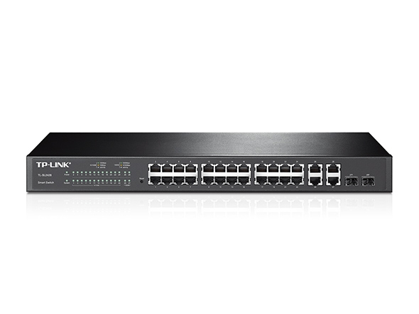Smart Switch administrable 24 ports 10/100 Mbps + 4 ports Gigabit