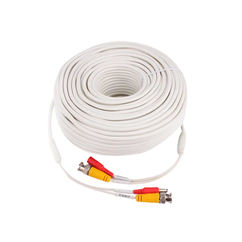 CCTV SIAMESE (BNC+Power) CABLE 100FT (30 meters) PER MADE (WHITE)