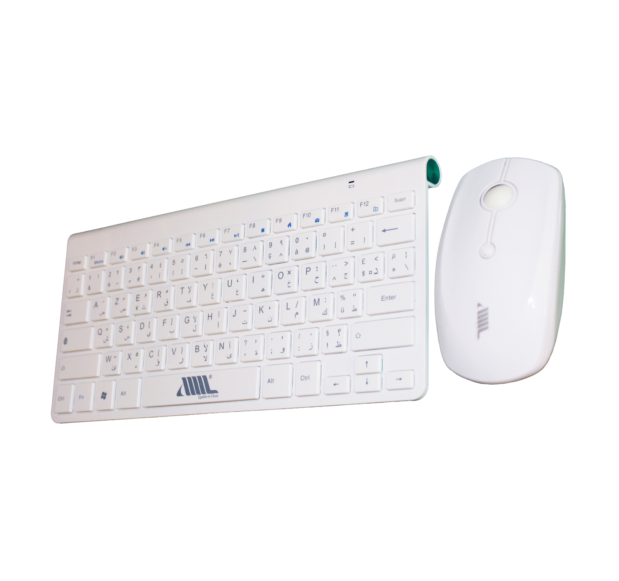 Ultra-slim portable wireless keyboard and mouse set