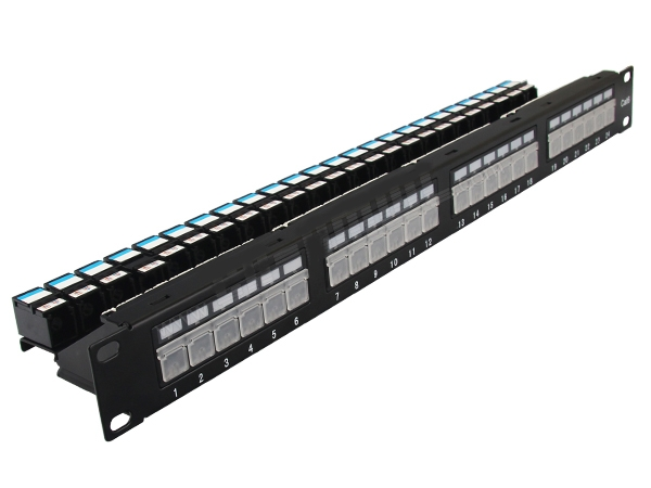 Cat.6 patch panel 24 port FTP with dust cover, lock