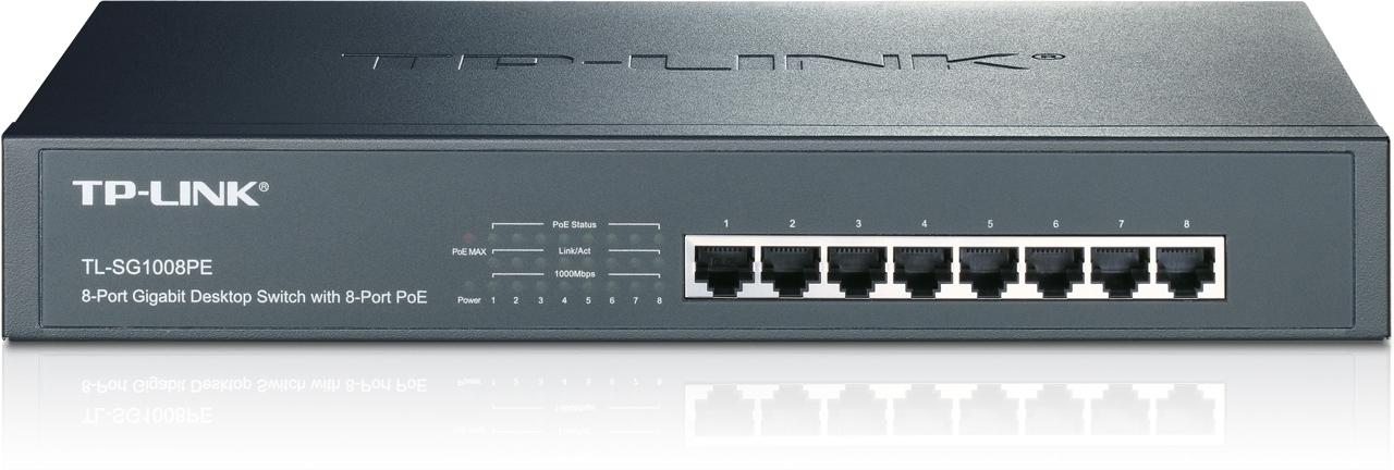 Switch de bureau rackable 8 ports Gigabit PoE