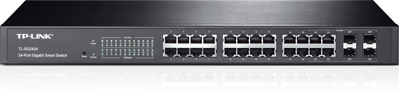Smart Switch administrable 24 ports Gigabit avec 4 emplacements combinés SFP