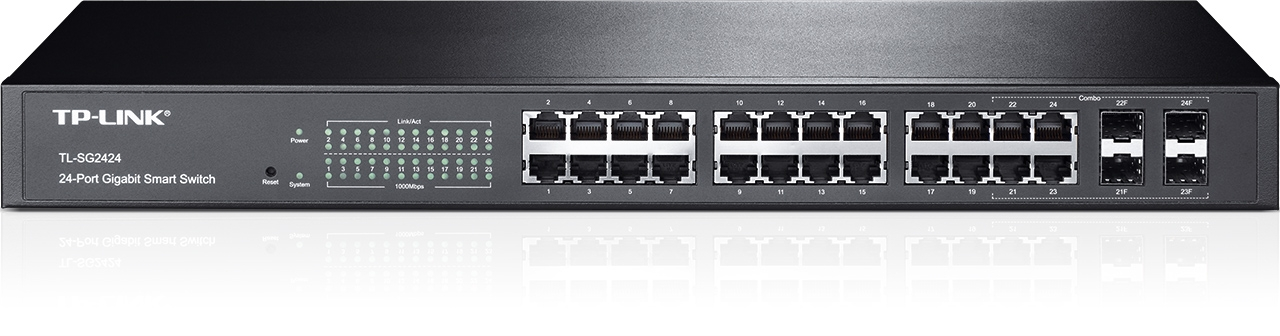 Smart Switch administrable 24 ports Gigabit avec 4 emplacements combinés SFP