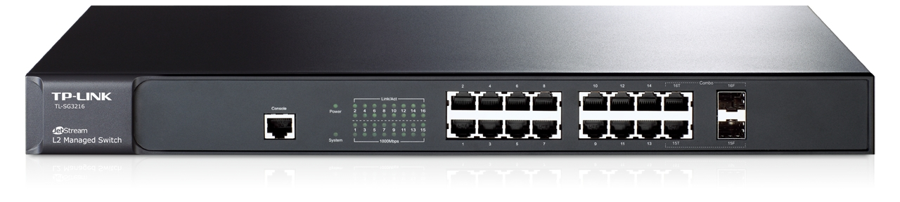 Switch JetStream™ administrable niveau 2 16 ports Gigabit