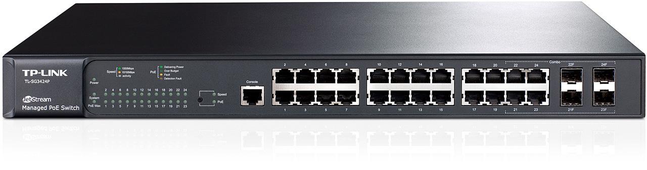 Switch JetStream administrable niveau2 24ports Gigabit PoE