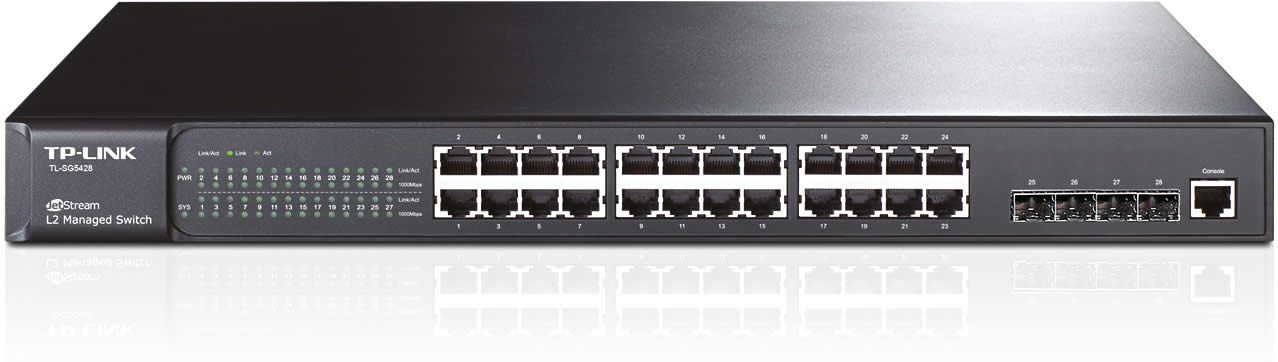 Switch JetStream™ administrable niveau 2 24 ports Gigabit