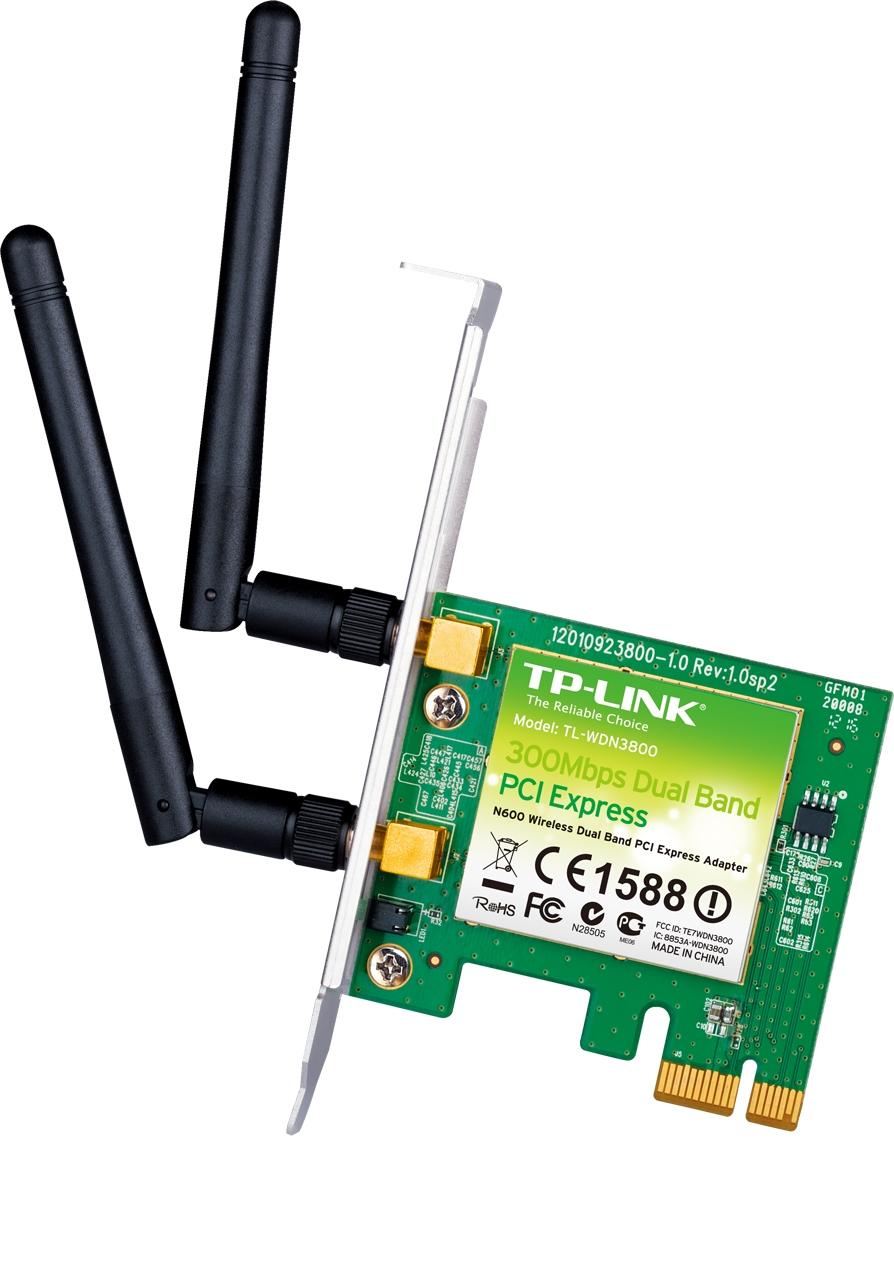 Adaptateur PCI Express double bande sans fil N600 Avec équerre low profile
