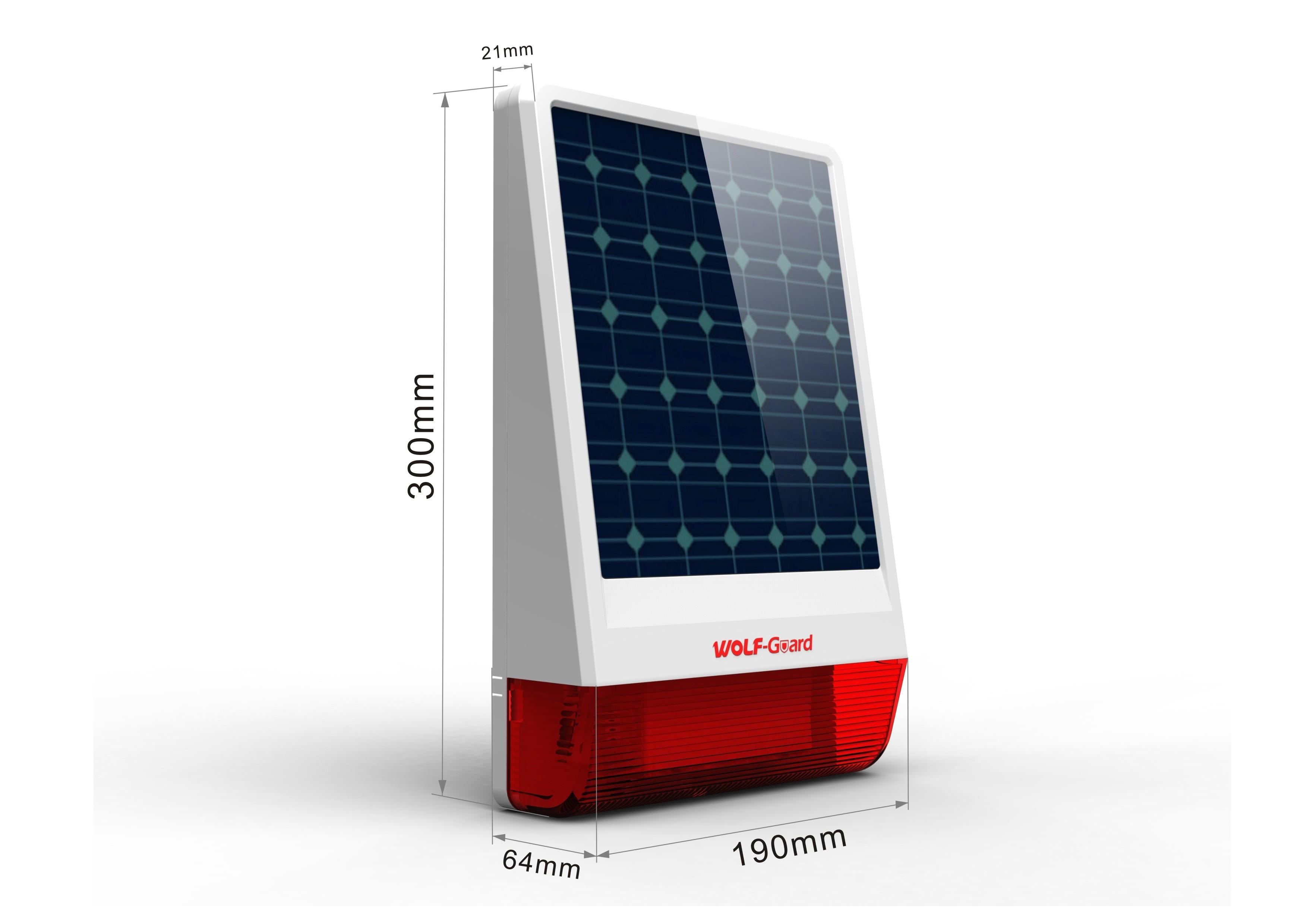 Siren sans fil d'extérieur à énergie solaire